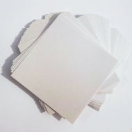 50 Sheets x 6x6 Pearl White Card Stock, Double Sided, 250gsm Stiff Board